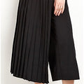 Half Pleated Overlap Culotte - culottes - Kerkés Fashion