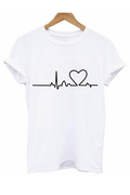 The Heartbeat Tee - Tops tee - Kerkés Fashion