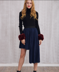 Hazel High-low Pleated Skirt - Skirts - Kerkés Fashion
