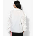 Elise Overseas White Ruffle Shirt - Tops - Kerkés Fashion