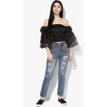 Tiana Tiered Sleeve Crop top - Tops Crop Party - Kerkés Fashion