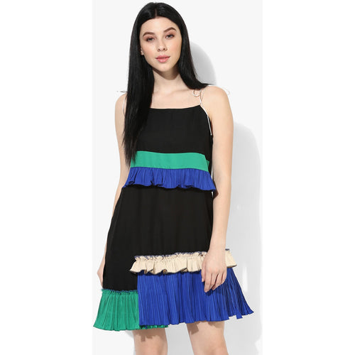 Raelyn Ruffle Noodle Strap Dress - Dress - Kerkés Fashion