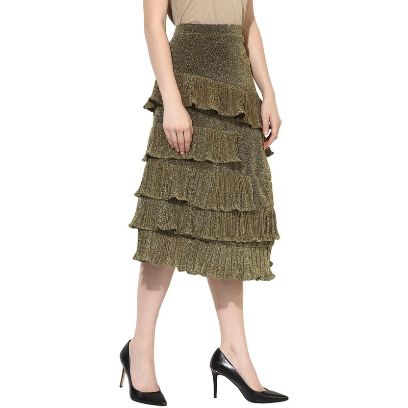 Mary Shimmer Layered Skirt - Skirts - Kerkés Fashion