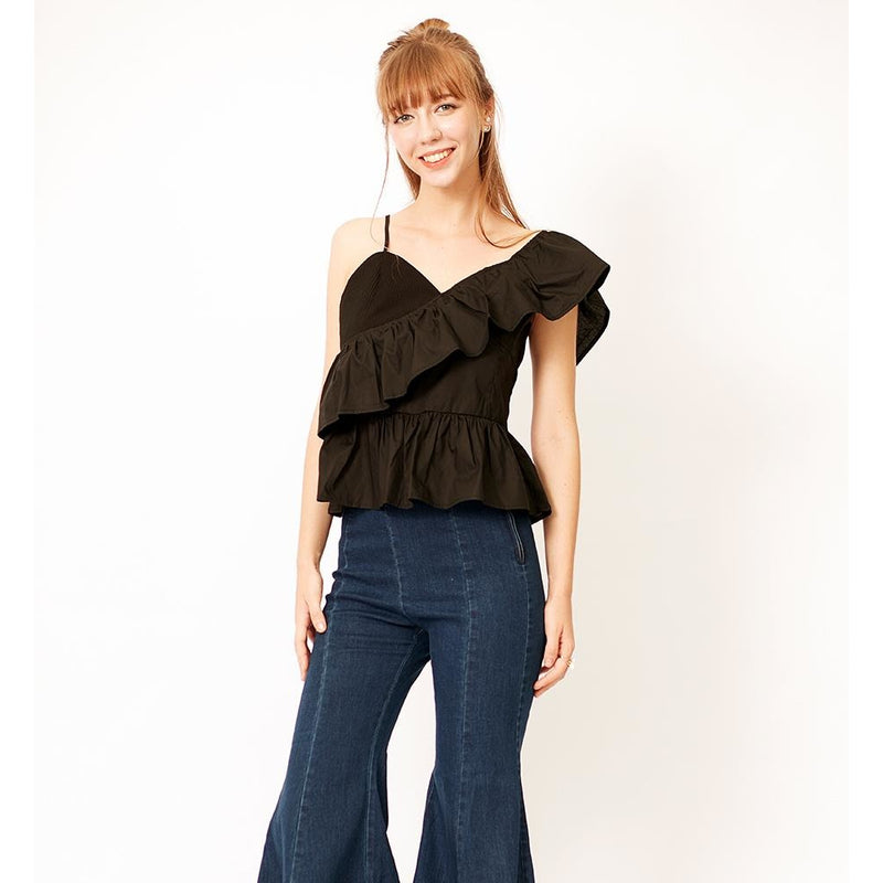 Rochelle Ruffle Top - Tops Party - Kerkés Fashion