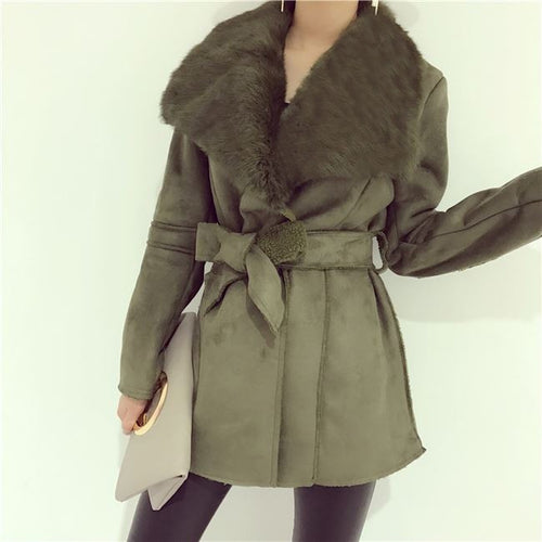 Noella Fur Shearling Coat - Jackets - Kerkés Fashion