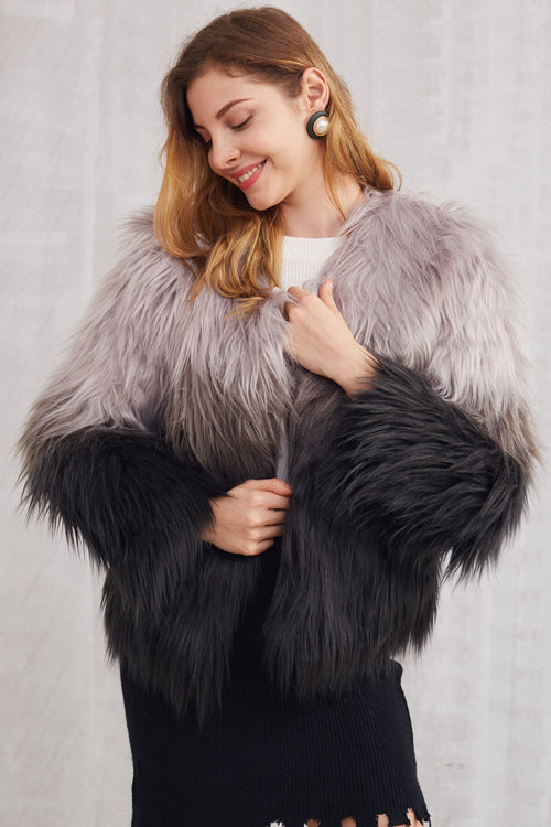 Ombré Fur Coat