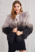 Ombré Fur Coat - Jackets - Kerkés Fashion