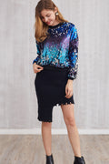 Party Starter Ombré Sequin Sweatshirt - Women Sweatshirts sequins - Kerkés Fashion