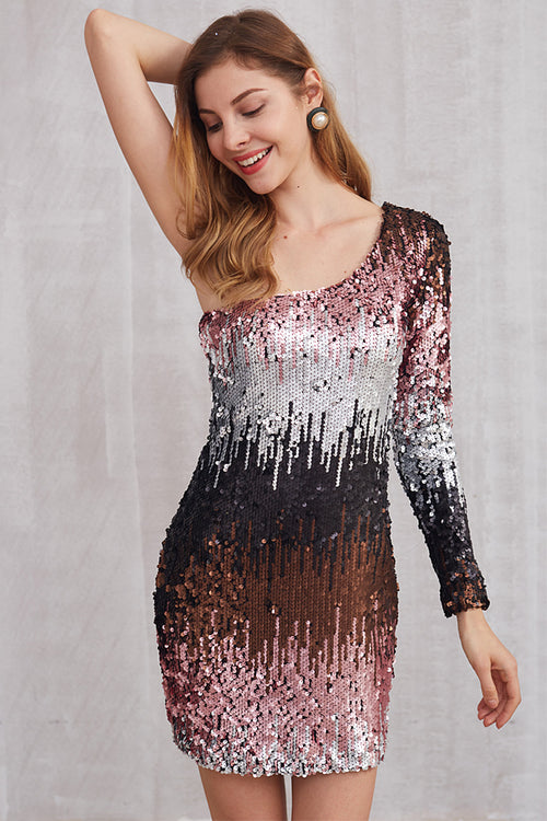 Party Queen Ombre Sequins Dress - Dresses Sequins - Kerkés Fashion