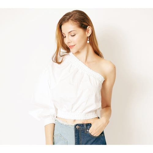 Anna One Armed Crop Top