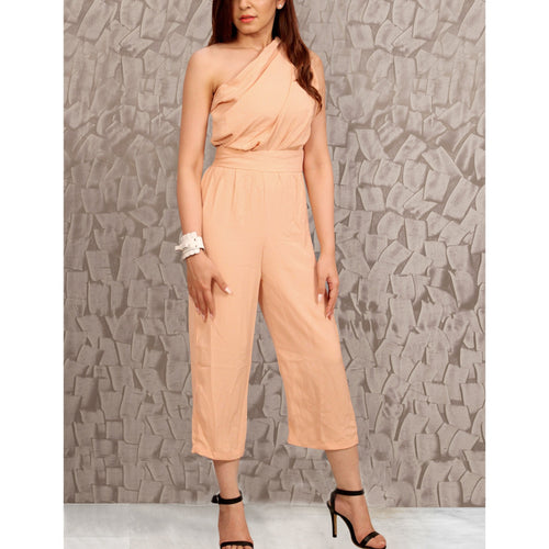 One Shoulder Cropped Jumpsuit -  - Kerkés Fashion