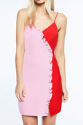 Season Of Fun Pink-Red Overlap Dress - Dresses Casual Party - Kerkés Fashion