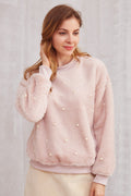 Cuddle Me Up Pearled Sweatshirt - Women Sweatshirts - Kerkés Fashion
