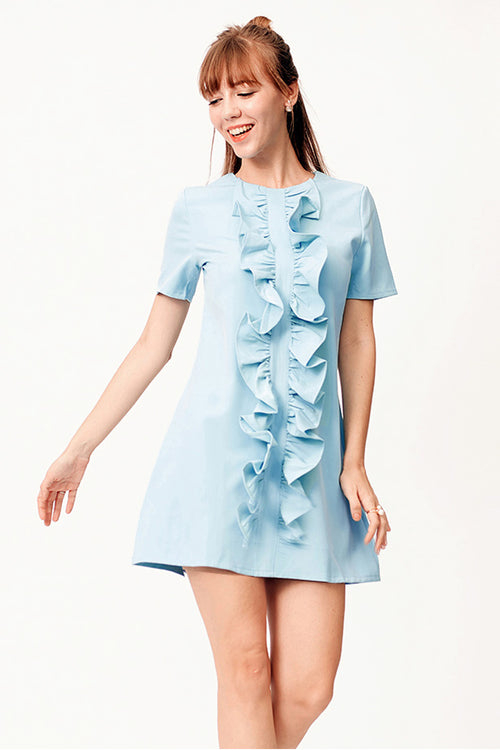 Raisha Ruffle Roll Dress