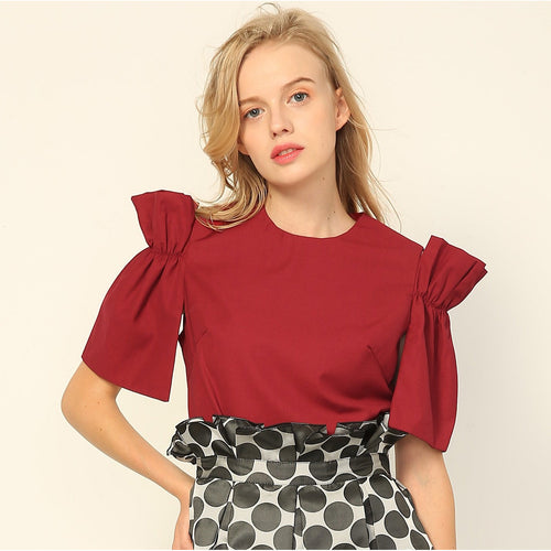 Pari Paperbag Sleeve Top