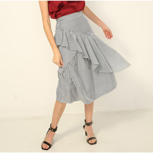Ryla Ruffled Stripe 2-way Skirt/Dress