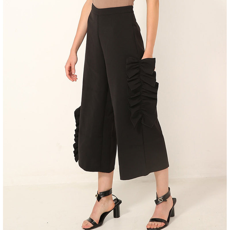 Ryné Up & Down Ruffled Culottes - Trousers - Kerkés Fashion