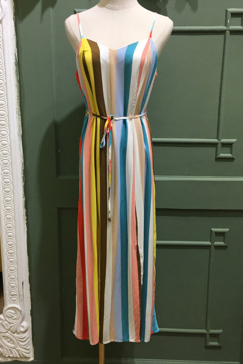 Pastel Stripe Cami Dress