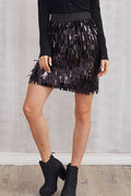 She-Queen Fringy Sequin Skirt - Skirts Sequins - Kerkés Fashion