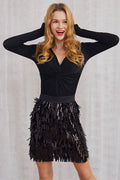 She-Queen Fringy Sequin Skirt