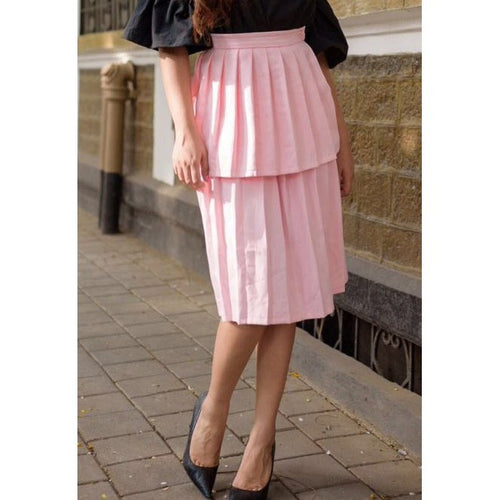 Strawberry Tiered Skirt - Skirts Pleats - Kerkés Fashion