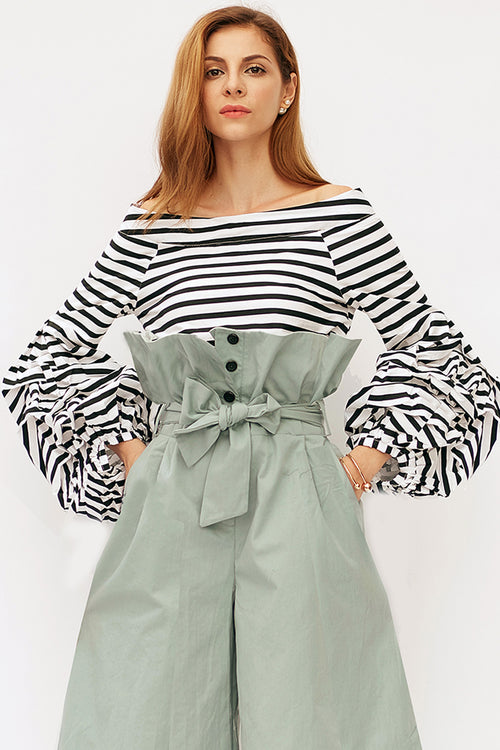 Super Puff Sleeve Offshoulder Top