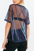 Sheer Reflection Tee - tops tee casual party - Kerkés Fashion