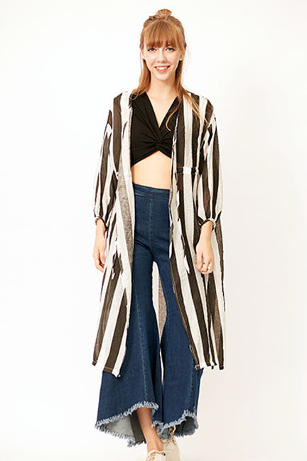Stella Stripe Cover Up - Jackets Travel - Kerkés Fashion