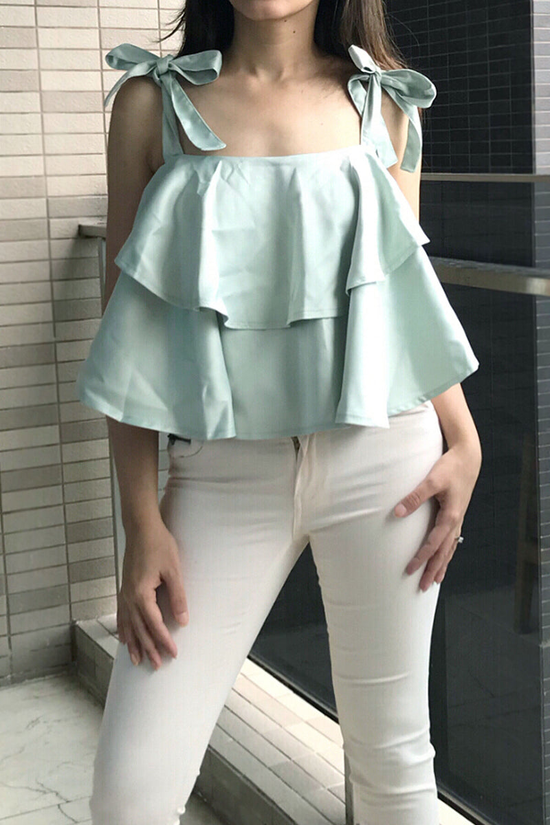 Think Chic Layered Crop Top - Tops casual party crop - Kerkés Fashion