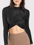 Tina Twisted Hem Crop Top - Tops party crop - Kerkés Fashion