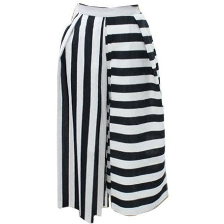 Vertical Horizon Stripes Culottes - culottes - Kerkés Fashion