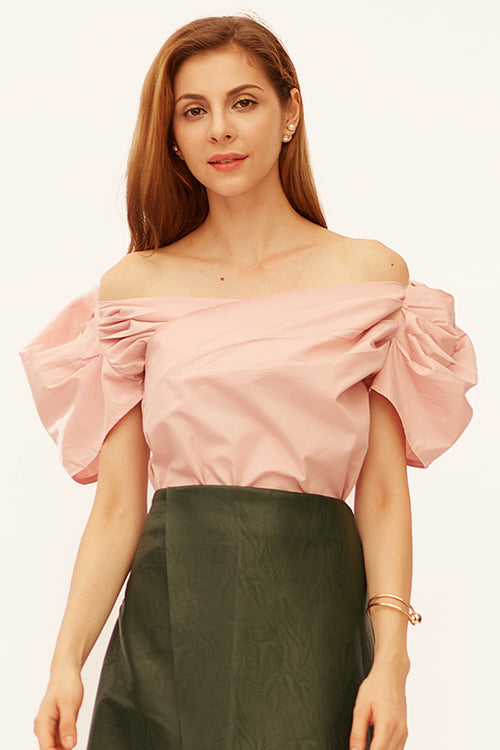 Welly Wrap Puff Sleeve Top