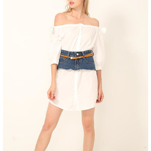 Ella Shirt Dress & Denim Skirt Corset Set