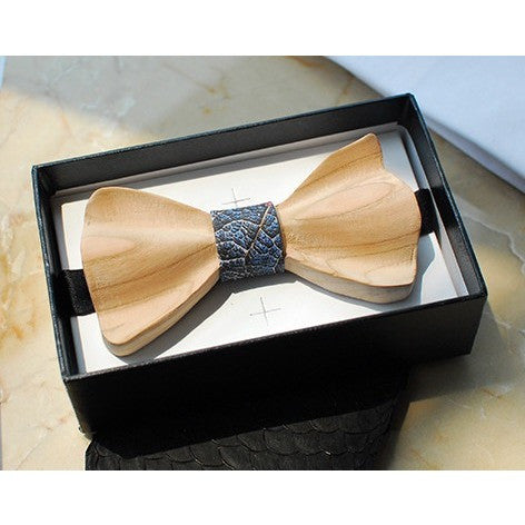 Wooden Bow Tie - Leaf Veins - Bow Ties - Kerkés Fashion