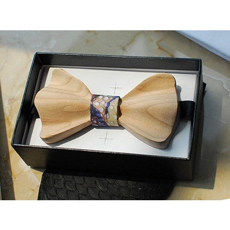 Wooden Bow Tie - Water Dew - bow ties - Kerkés Fashion