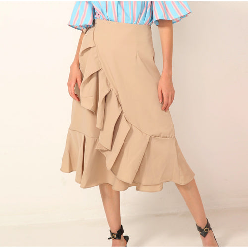 Walela Wrap-Around Ruffle Skirt - Skirts - Kerkés Fashion