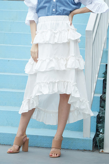Take It Easy High-low Ruffle layer Skirt - Skirts - Kerkés Fashion