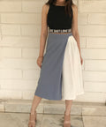 Clarie Color Block Overlap Culottes - culottes trousers - Kerkés Fashion