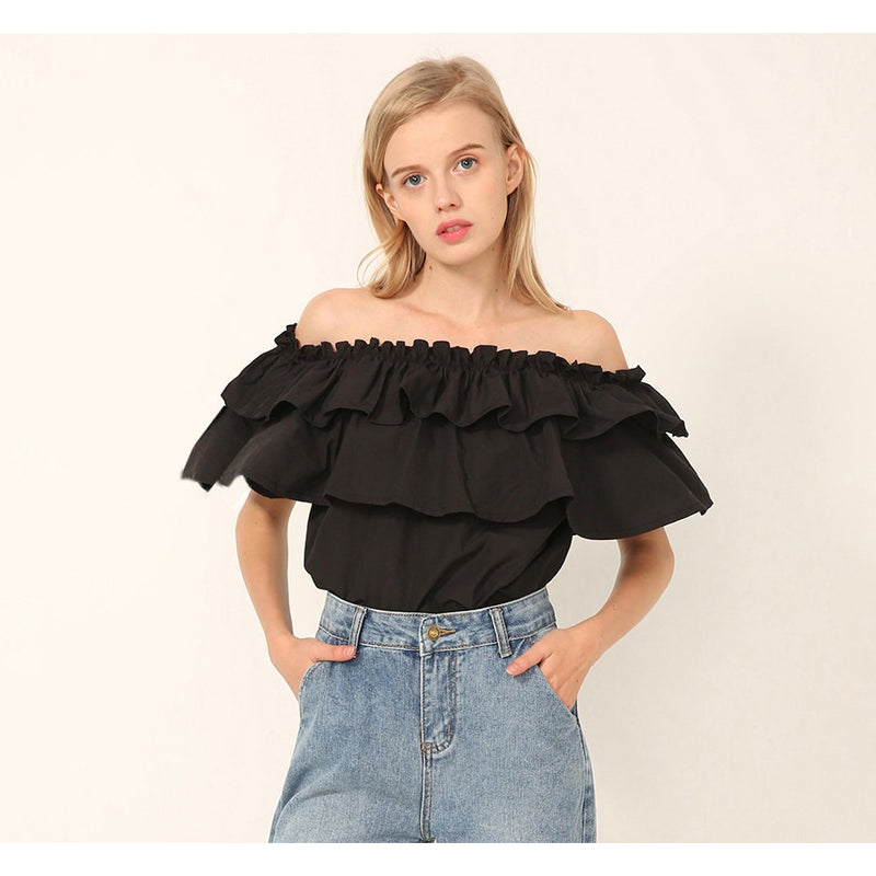 Drema Double layered Ruffled Offshoulder Top - Tops casual - Kerkés Fashion