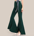 Eva Emerald Flare Pants - Trousers - Kerkés Fashion