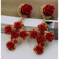 Flowers & Crosses Earrings - Earrings - Kerkés Fashion