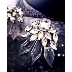 Crystal Ice Drop Earrings - Earrings - Kerkés Fashion