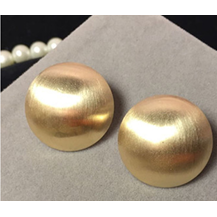 Gold Smooth Round Earrings - Earrings - Kerkés Fashion