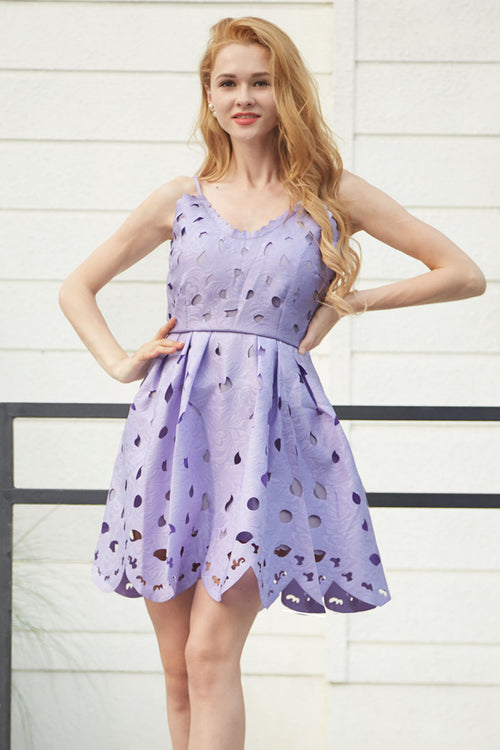 Lucy Lilac Lace Dress - Dresses Casual Party - Kerkés Fashion