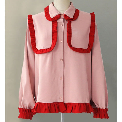 Ryla Ruffled Shirt - Tops - Kerkés Fashion
