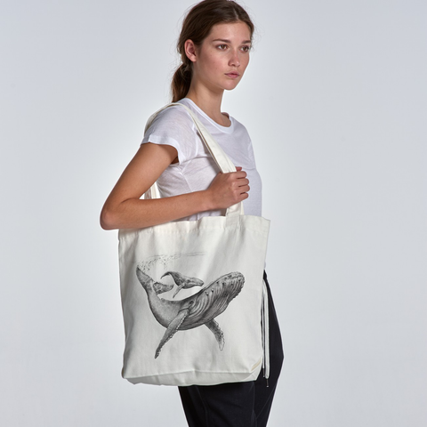 Humpback & Calf - Cream, Black & Graphite (Tote) Bags