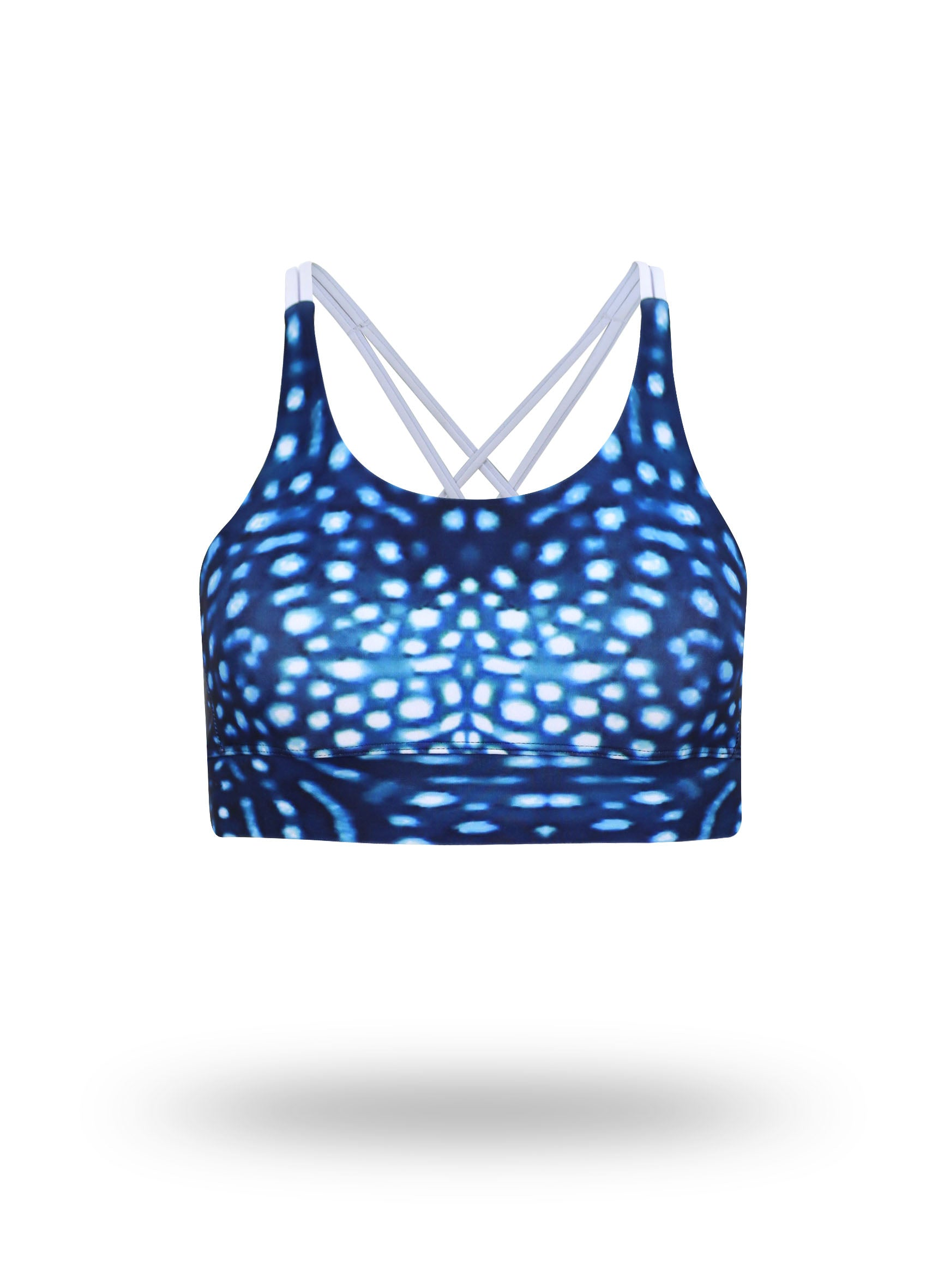 Whale Shark - Yoga Crop Top - Repreve® Fabric