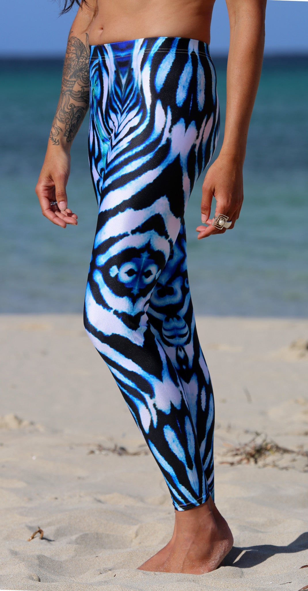 Ningaloo Stripe Leggings - Repreve® Fabric