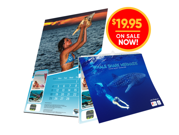Whale Shark Mermaids Calendar