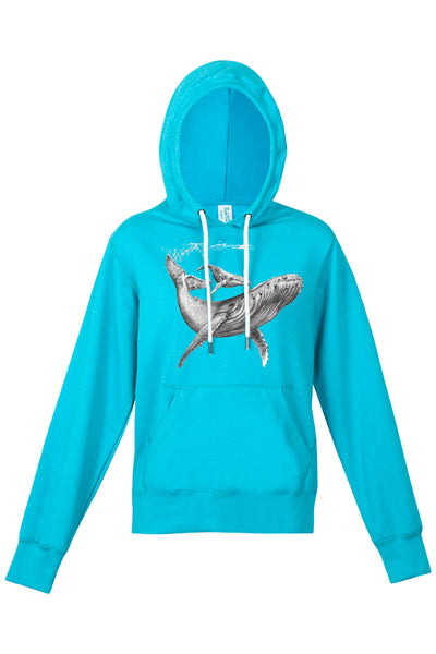 Womens - Humpback & Calf Print - Limited Edition - Hoodie